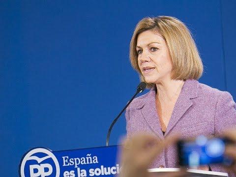 """Cospedal: """"Tenemos un proyecto de futuro para Cataluña, salimos de la crisis y creamos empleo"""""""