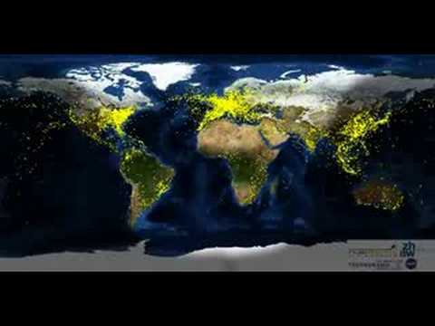 24 hours worth of air traffic around the world!