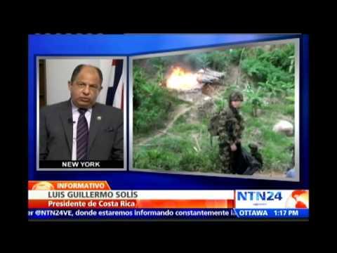 Presidente de Costa Rica cuestionó en NTN24 el papel del Consejo de Seguridad de la ONU