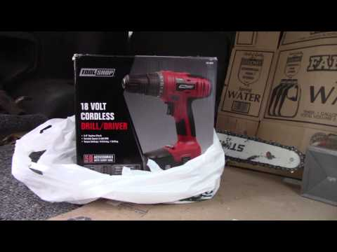 Tool Shop Cordless Drill Unboxing