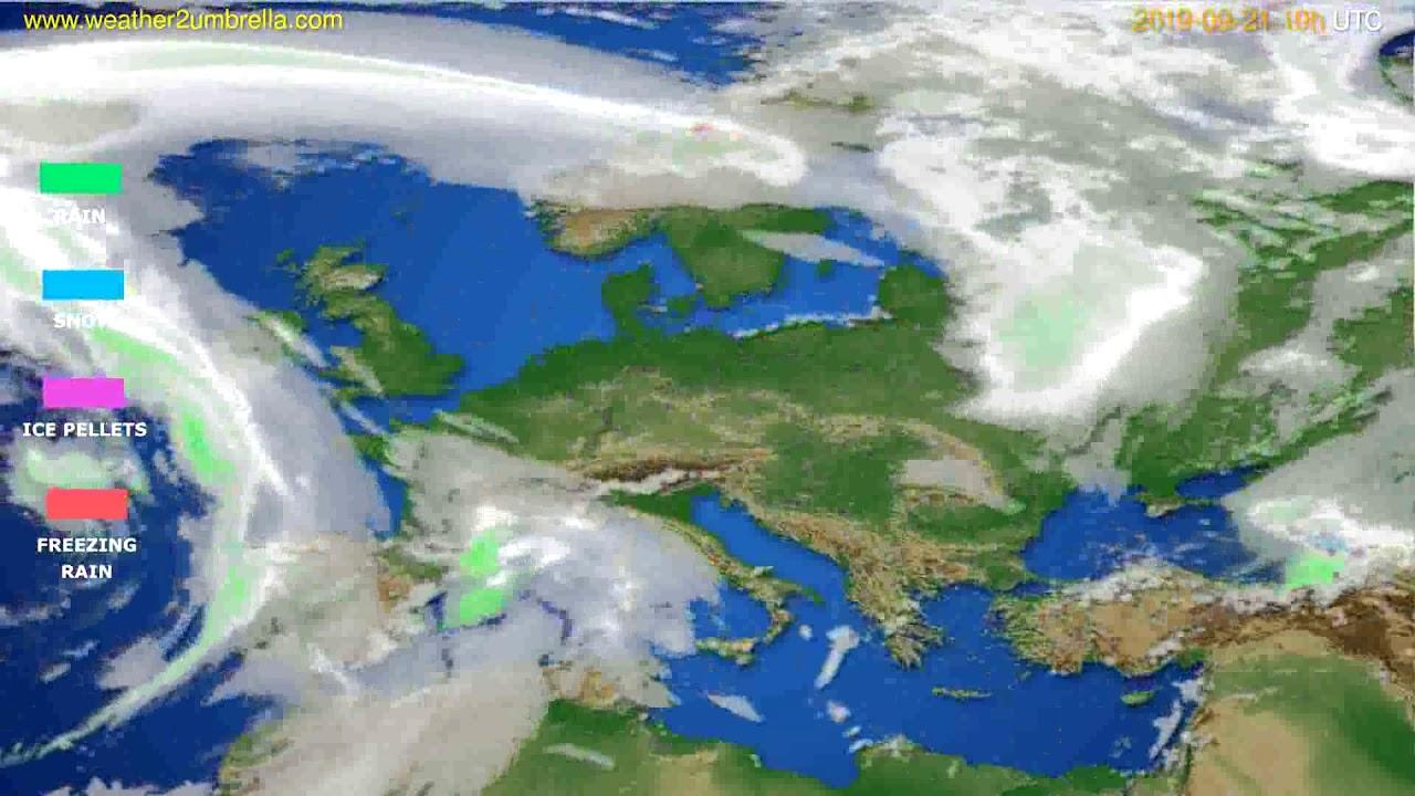 Precipitation forecast Europe // modelrun: 12h UTC 2019-09-18