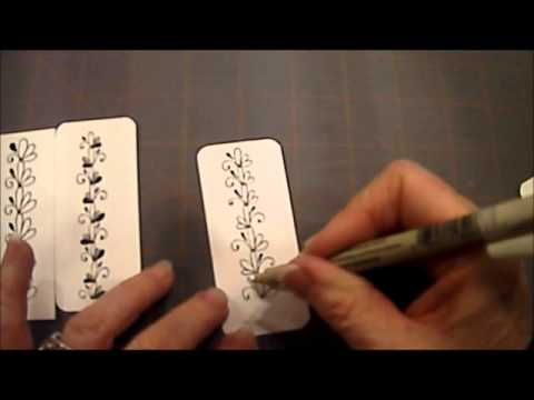 "How To Draw Tangle Pattern ""3 Loops 6"" with Melinda Barlow, CZT"
