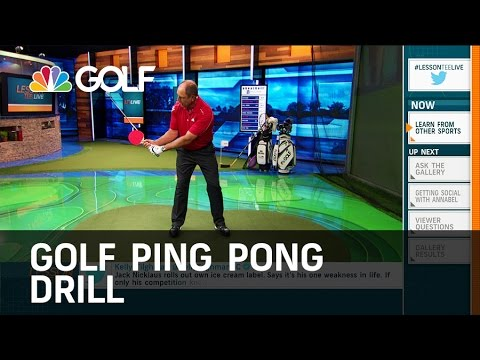 Ping Pong Golf Drill – Lesson Tee Live | Golf Channel