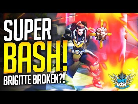 Overwatch - BROKEN Brigitte?! SUPER SHIELD BASH TECH!