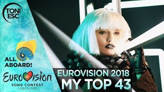 Video Eurovision 2018: My final top 43 [with comments] MP3, 3GP, MP4, WEBM, AVI, FLV Maret 2018