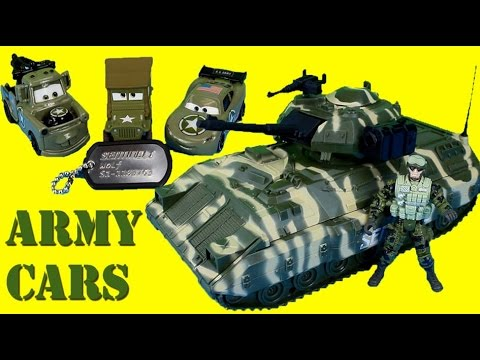 Army - Just4fun290 presents Army Cars fight Bane & Luthor to get back the secret documents & Sarge! Thanks for watching!! Music by Youtube audio & Kevin MacLeod.