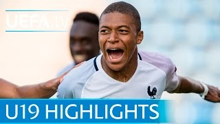 Highlights of the 2016 UEFA European Under-19 Championship semi-final between France and Portugal. Subscribe:...