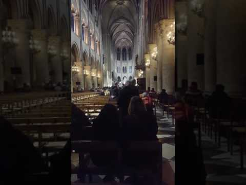 Notre Dame Cathedral in Paris France 2017 Mass
