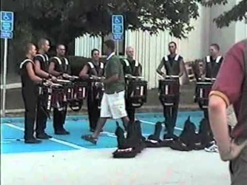 Crossmen drumline 2002