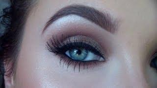 Chocolate brown glittery smokey eye | Jaclyn Hill