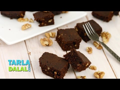 Chocolate Brownie by Tarla Dalal