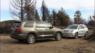 2011 GMC Acadia Vs. Toyota Sequoia Mashup Drive&Review