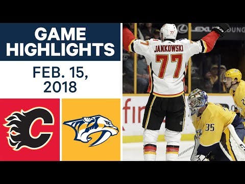 Video: NHL Game Highlights | Flames vs. Predators - Feb. 15, 2018