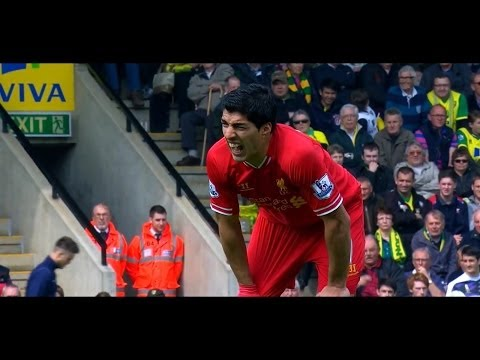 Luis Suarez Vs Norwich (Away) HD 720p (20/04/2014)