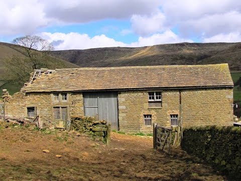 """The Village"" Hayfield   Middleton's Farm from Edale to Rushup Edge round 