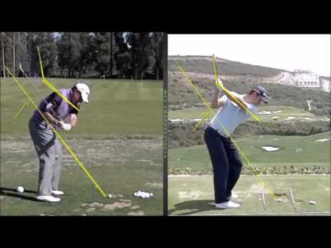Golf – Flatten the Downswing Plane – Justin Rose, Charlie Hoffman, Lee Westwood.