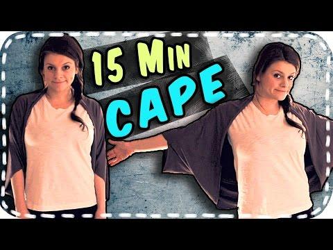 DIY - Cape Jacke selber nähen | #15MinutenCape