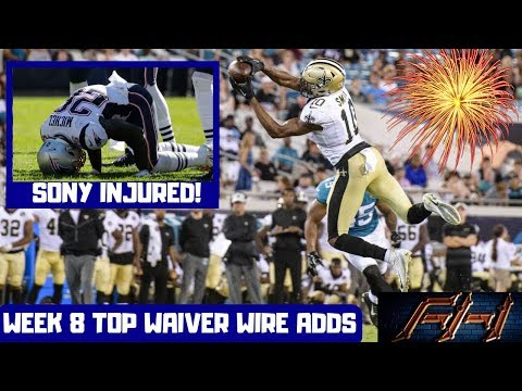 2018 Fantasy Football Advice  - Week 8 Top Waiver Wire Targets