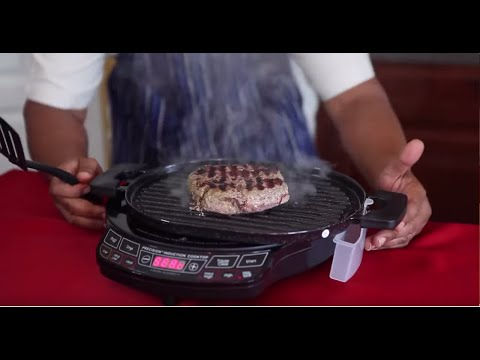 Burger - NuWave Cast Iron Grill Featuring Chef Adrian