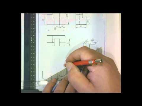 Projektion 3 Ansichten mit Isometrie 30 min