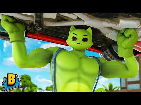 She-Hulk's KISS Turns Meowcles INTO HULK!!! - Fortnite