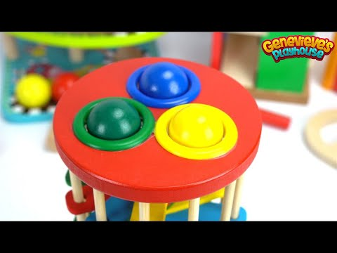 Best Toddler Learning Video for Kids: Teach Kids with Fun Preschool Toy Ball Pounding Benches!