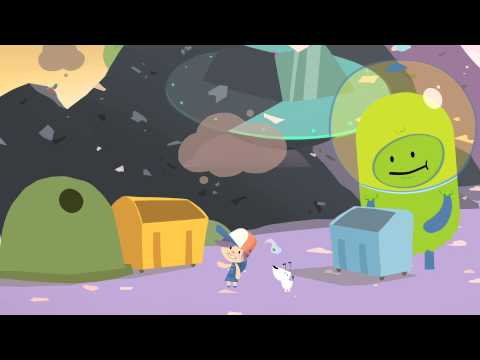 Vzdělávací video 'Smetí letí' pro malé návštěvníky ENVIcentra