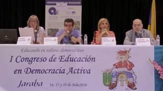 Conferencia del juez Emilio Calatayud, Rosa Santos y María Aguirre