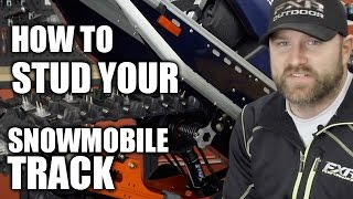 3. How To Stud Your Snowmobile Track