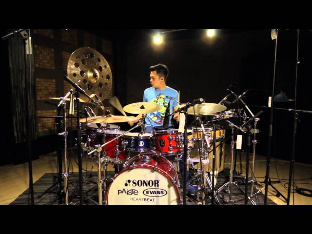 how to play happy pharrell williams on drums