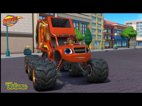 Blaze and the Monster Machines   Recycling Power! Clip  Treehouse