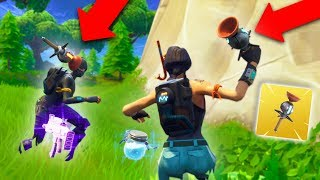 NEW CLINGER GRENADE TRAP! *FUNNY TROLLING!* | Fortnite Battle Royale