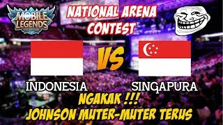 Video NGAKAK !!! Johnson Tour keliling Base Lawan Indonesia vs Singapura National Arena Contest 03112017 MP3, 3GP, MP4, WEBM, AVI, FLV Februari 2018