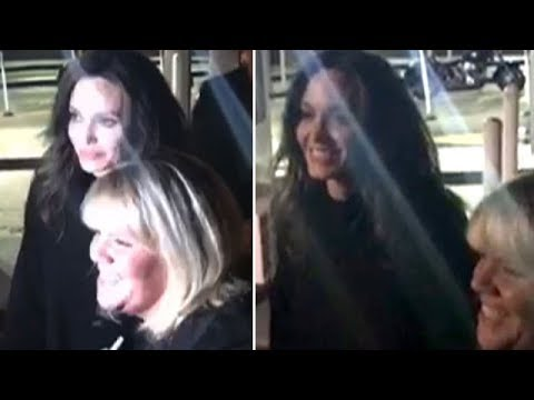 Angelina Jolie Charms A Group Of Friends After Dinner