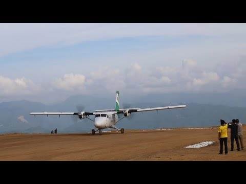 (गुल्मीको रेसुङा विमानस्थनमा पहिलो पटक एसरी आयो जहाज Tara Air 1st Flight at Resunga Airport Gulmi - Duration: 11 minutes.)
