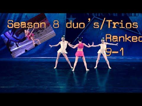 Season 8 duets/trios Ranked 9-1