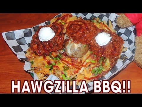 LOADED BBQ POTATOES HAWGZILLA CHALLENGE!!