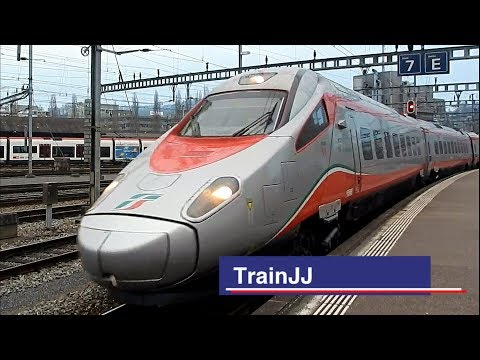 ETR 610 Trenitalia | Bahnhof Luzern | EC Eurocity Basel SBB - Milano Centrale | Pendolino | 610 012