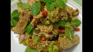 Thai Food-Grill Pork Salad