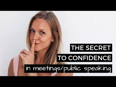 How to be More Confident and Speak in Meetings