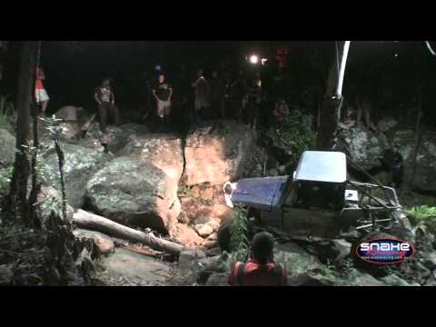 Racing to the Rim - David Camp from team Rock Rash Racing driving the night stage (2) at Round 2 of the Offroad Boss King of the Rim. David conquers a challenging rock step to w...