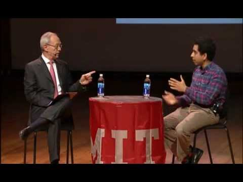 Khan - Sal Khan, founder of Khan Academy, talks about his life and how he started the Khan Academy, and is interviewed by MIT's president, Rafael Reif on Wednesday,...