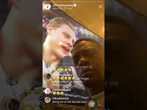 Boosie buys joe burrow a chain on LIVE & says he is going to be at boosie bash