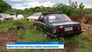 Emdurb de Marília recolhe carros abandonados para combater dengue