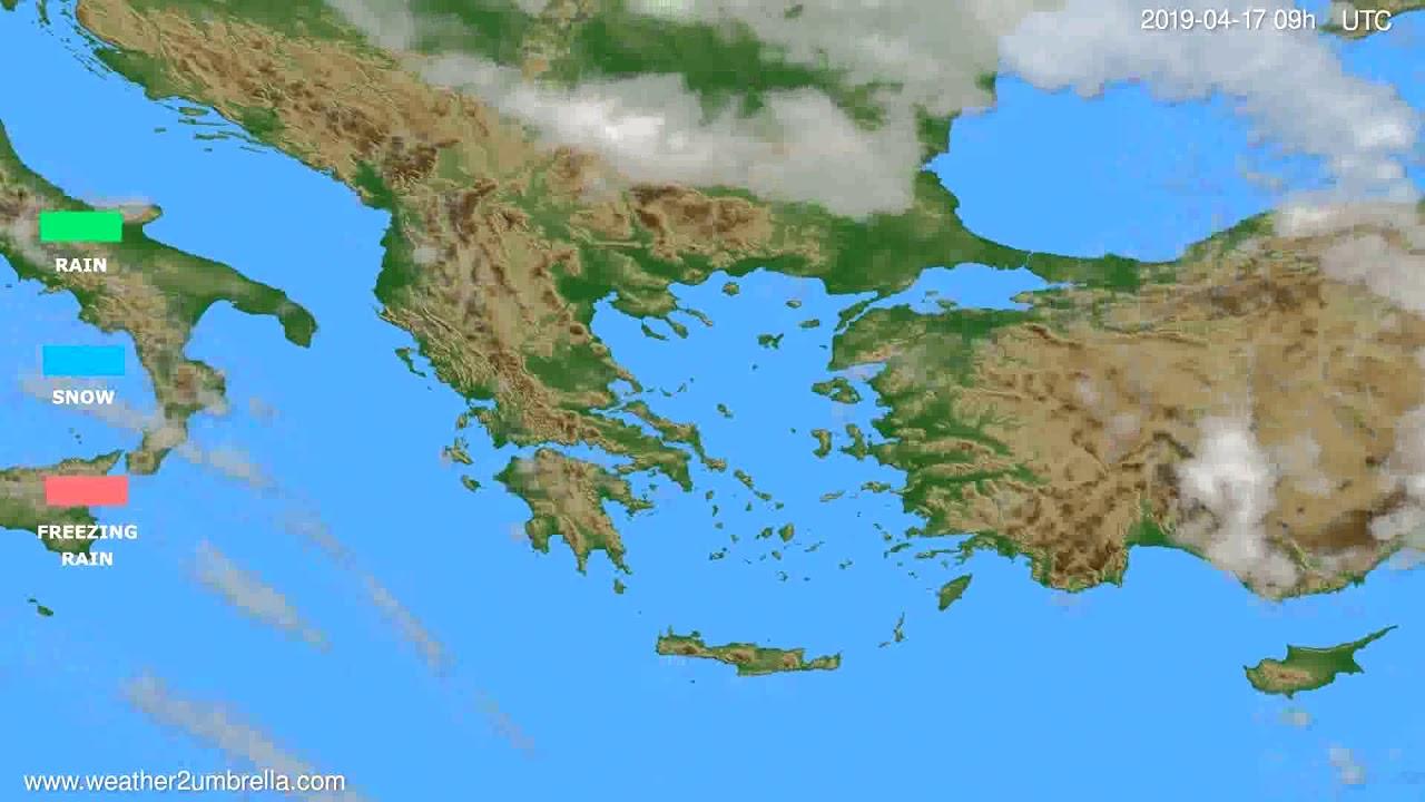 Precipitation forecast Greece // modelrun: 12h UTC 2019-04-15