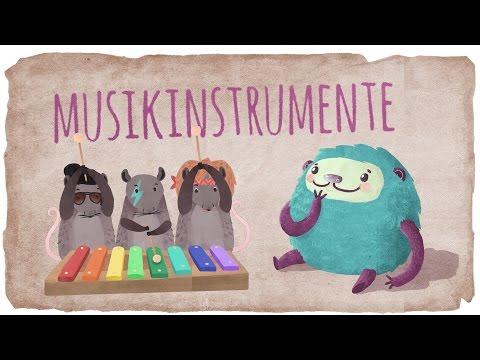 Musikinstrumente lernen, Klänge lernen für Kinder mit Flunkeblunk