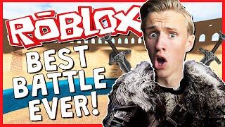 BEST BATTLE EVER!?   ROBLOX LEGENDARY   ROBLOX MEDIEVAL WAR!?
