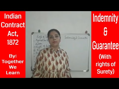 Indemnity And Guarantee || Indian Contract Act, 1872
