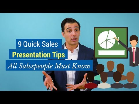 9 Quick Sales Presentation Tips All Salespeople Must Know