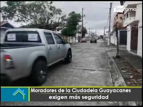 Moradores de la ciudadela Guayacanes exigen más seguridad